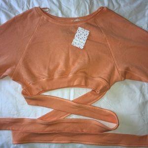 Orange free people sweater